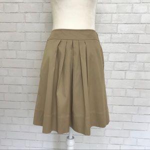 Loft A-line khaki skirt